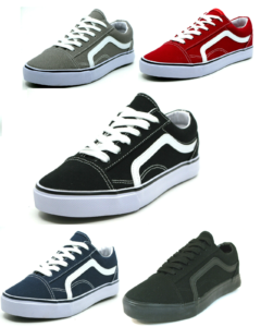 Men's Classic Lace Up Canvas Shoes Athletic Skate Sneakers Casual Fashion