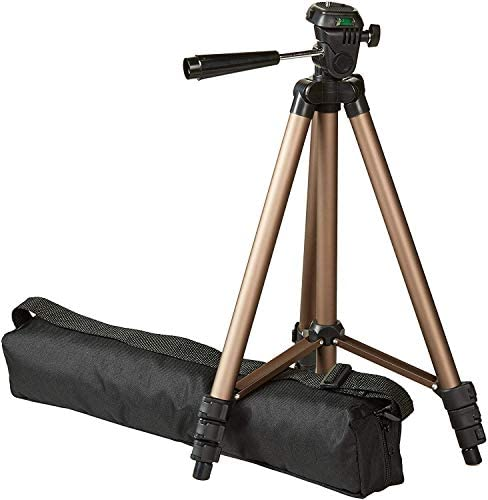 AmazonBasics Lightweight Camera Mount Tripod Stand With Bag – 16.5 – 50 Inches