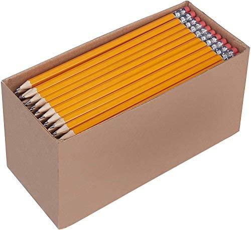 AmazonBasics Pre-sharpened Wood Cased #2 HB Pencils, 150 Pack