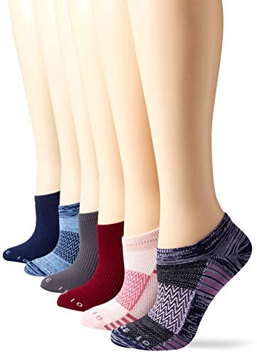 Amazon Brand – Core 10 Women's 6-Pack Performance Sport Athletic No Show Socks