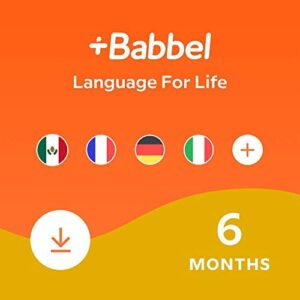 Babbel: Learn a New Language – Choose from 14 Languages including French, Spanish & English – 6 Month App Subscription for iOS, Android, Mac & PC [Online Software Download Code]