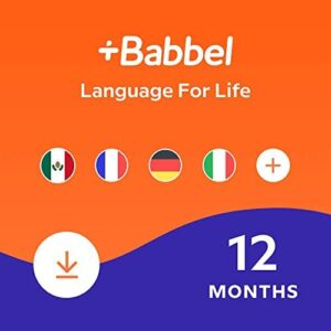 Babbel: Learn a New Language – Choose from 14 Languages including French, Spanish & English – 12 Month App Subscription for iOS, Android, Mac & PC [Online Software Download Code]