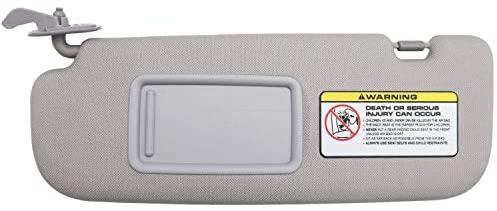SAILEAD Left Driver Side Sun Visor Compatible with Hyundai Elantra 2011 2012 2013 2014 Avante MD, 852103X000TX, Grey