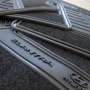 Elantra Floor Mats for Hyundai OEM Genuine – All Weather – Heavy Duty – (2017,2018,2019,2020) Complete Set (Black)– TheCustomCarMat