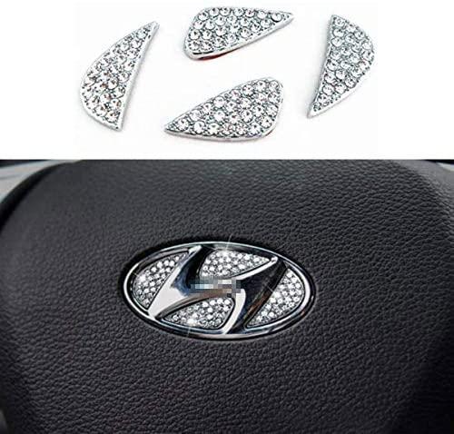 Bling Bling Car Steering Wheel Decorative Diamond Sticker Fit For Hyundai,DIY Bling Car Steering Wheel Emblem Bling Accessories for Hyundai