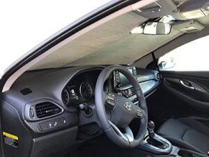 HeatShield, The Original Windshield Sun Shade, Custom-Fit for Hyundai Elantra GT Hatchback (5D) w/Sensor 2018, 2019, 2020, Silver Series