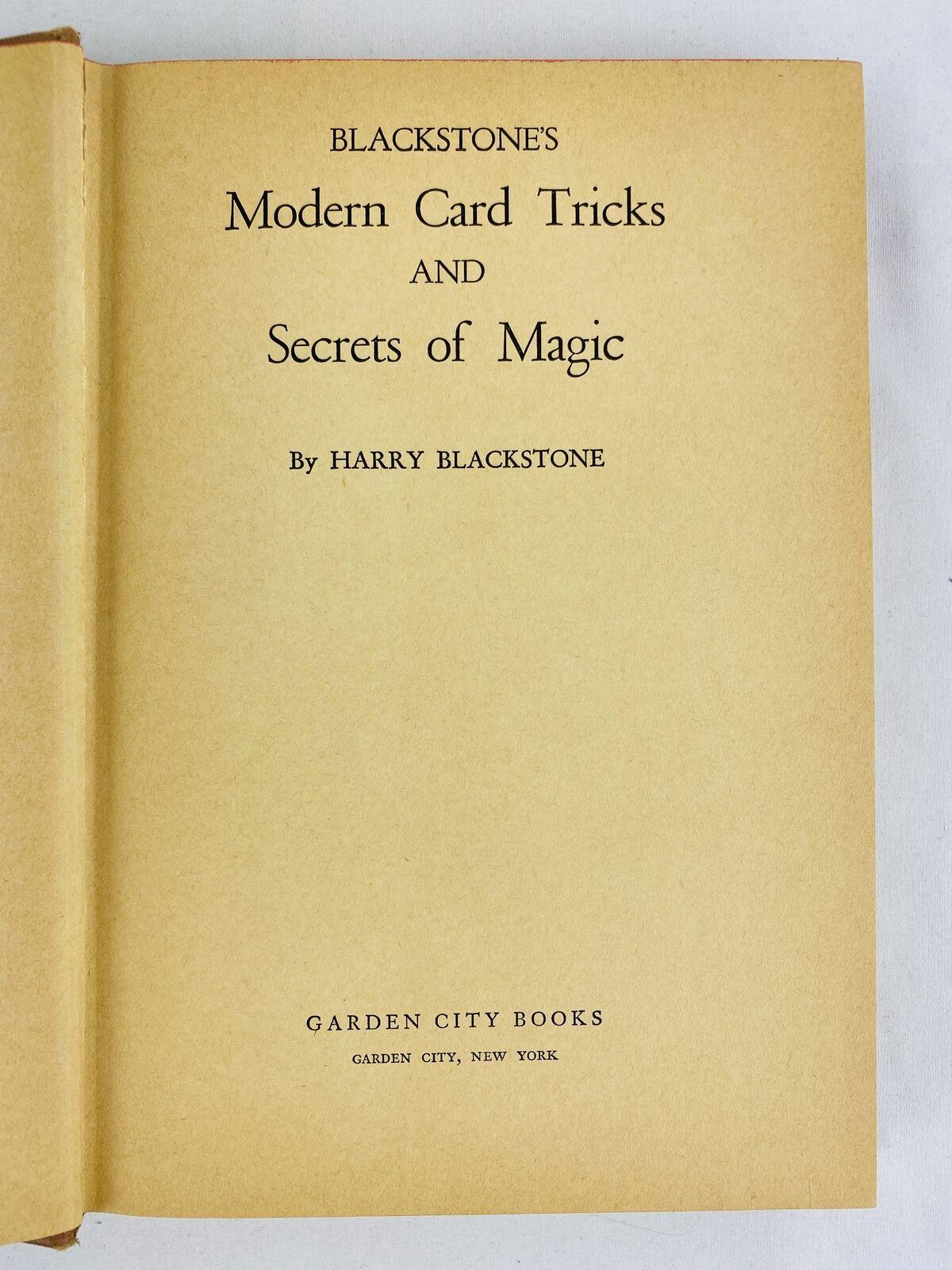 1941 Harry Blackstone's Modern Card Tricks and Secrets of Magic
