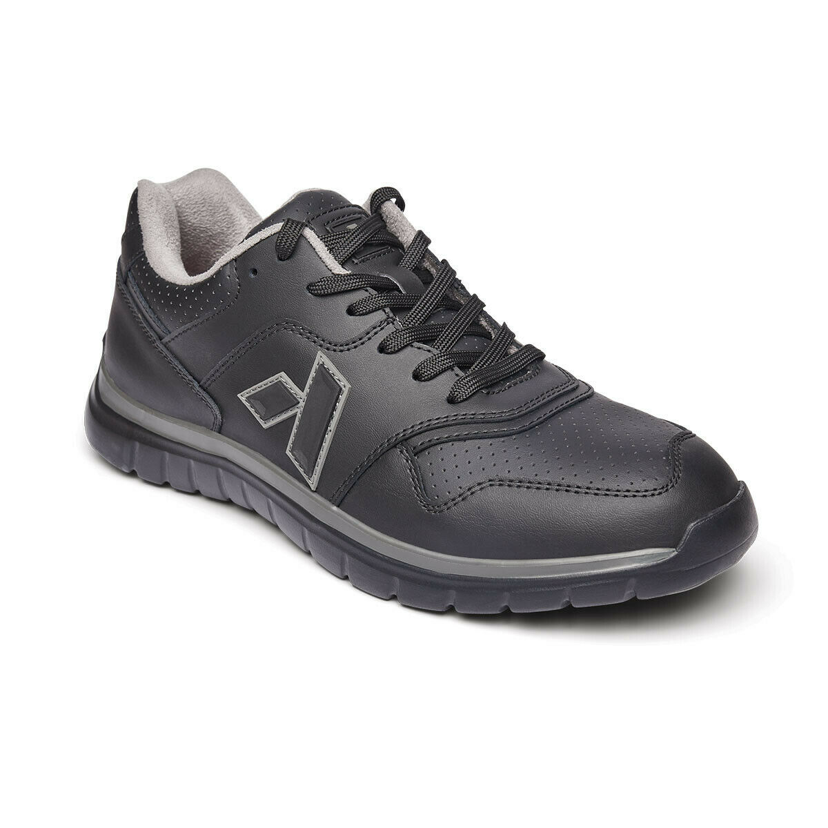 Anodyne No. 50 Sport Trainer Mens Shoes Black Diabetic Orthotic SALE