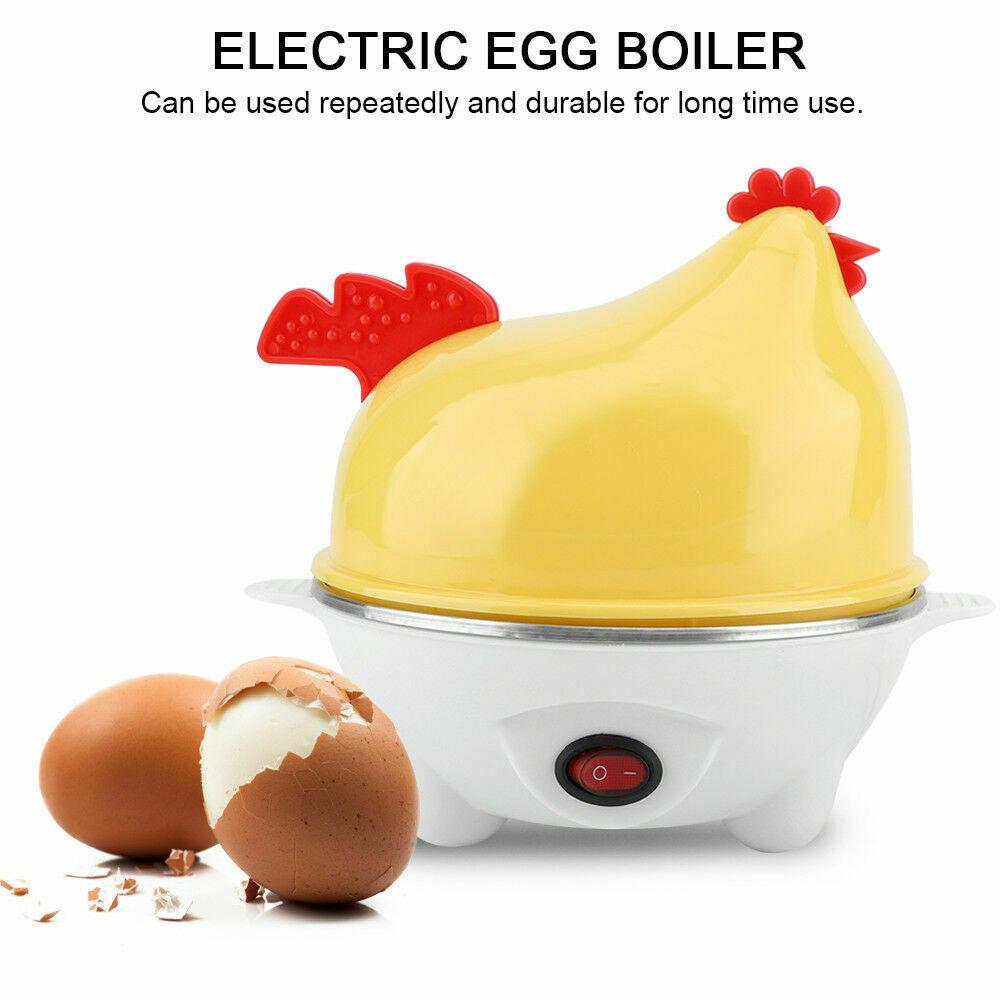 6 Eggs Electric Poacher Auto Egg Boiler Steamer Breakfast Cooker Tool 220V LJ