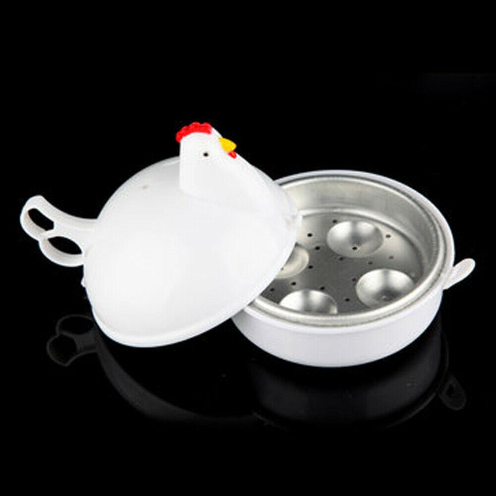 Household Mini Cute Hen Shape Microwave Egg Cooker Eggs Boiler Steamer