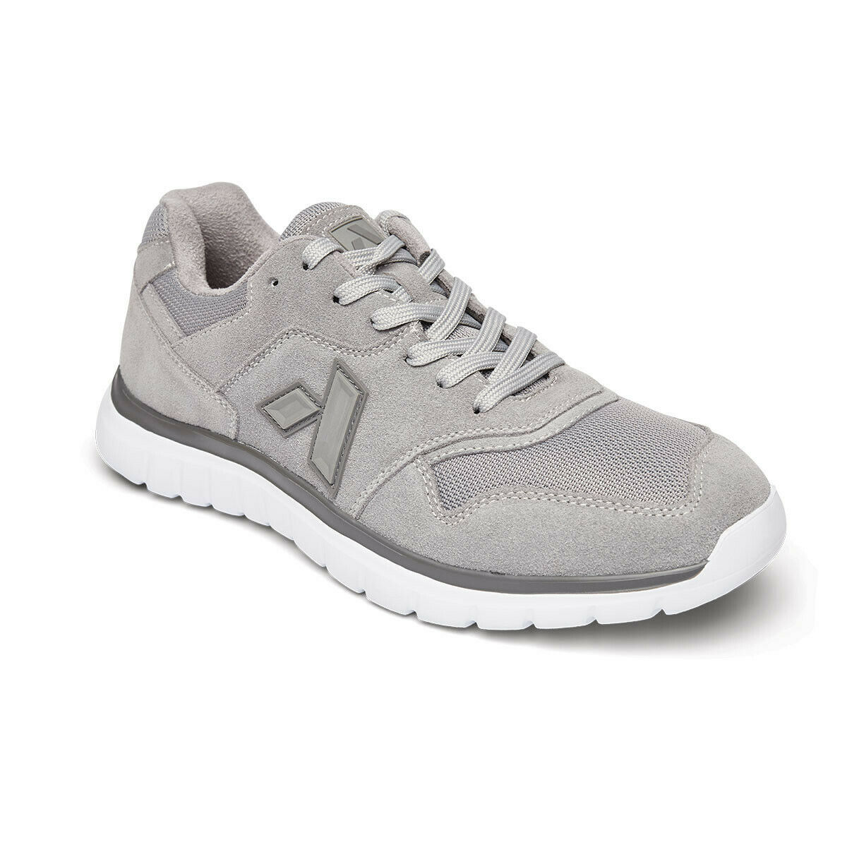 Anodyne No. 50 Sport Trainer Mens Shoes Grey Suede Diabetic Orthotic SALE