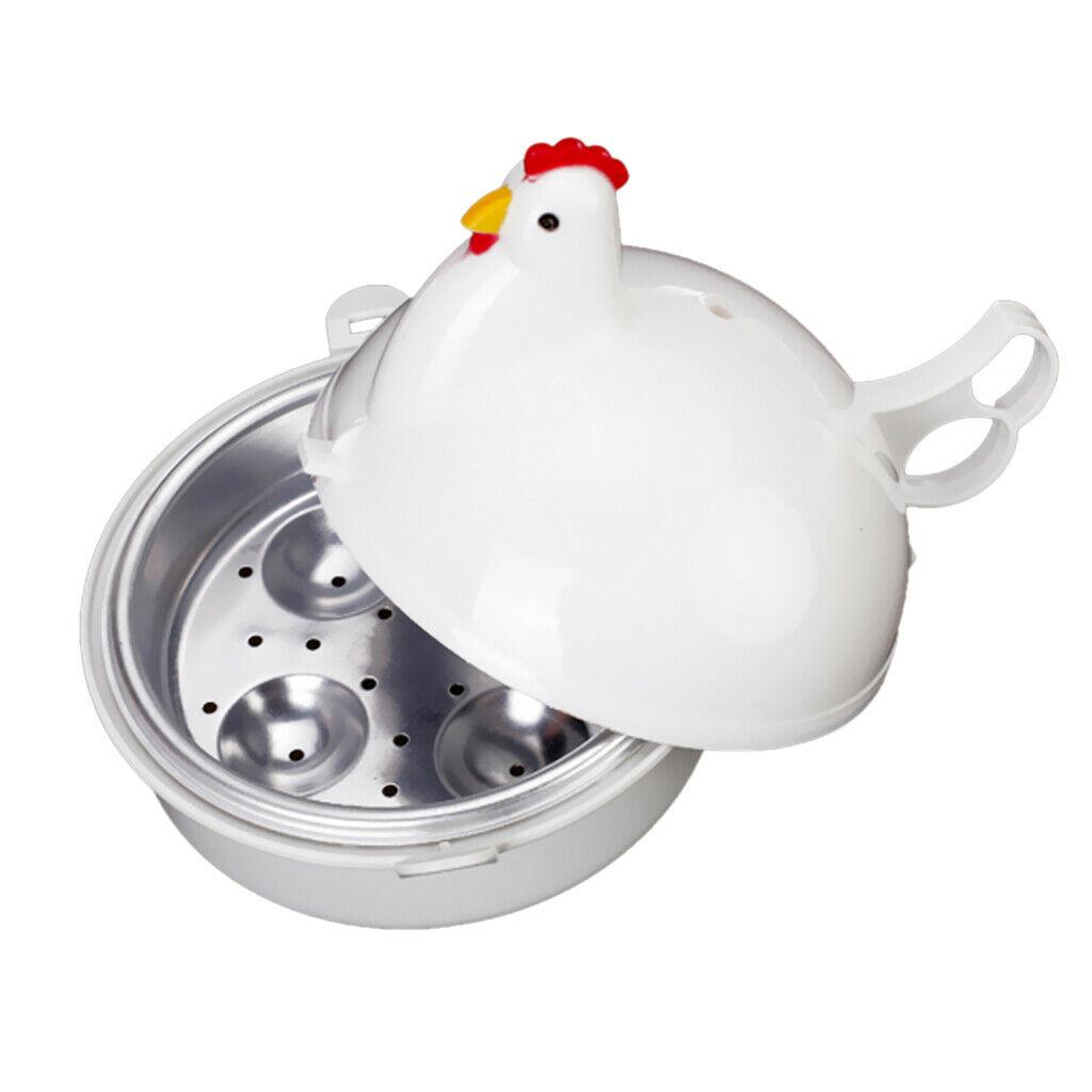 Microwave 4 Egg Boiler Cooker Poacher Steamer Omelette Maker Breakfast Maker