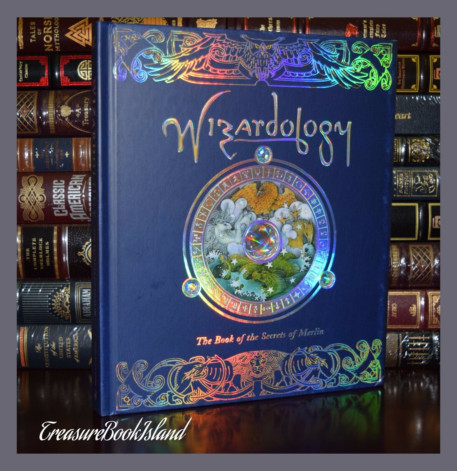 Wizardology Secrets of Merlin Wizard Magic Illustrated New Large Hardcover Gift