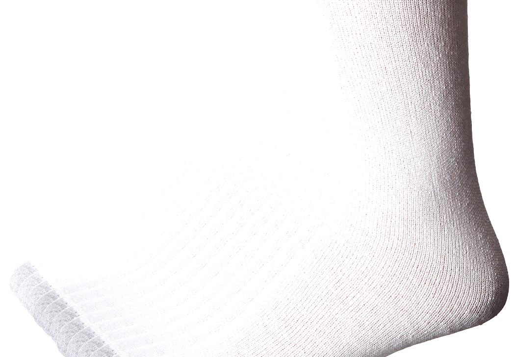 Hanes Men's FreshIQ Over The Calf Tube Socks (Pack of 12) Shoe Size: 6-14 White