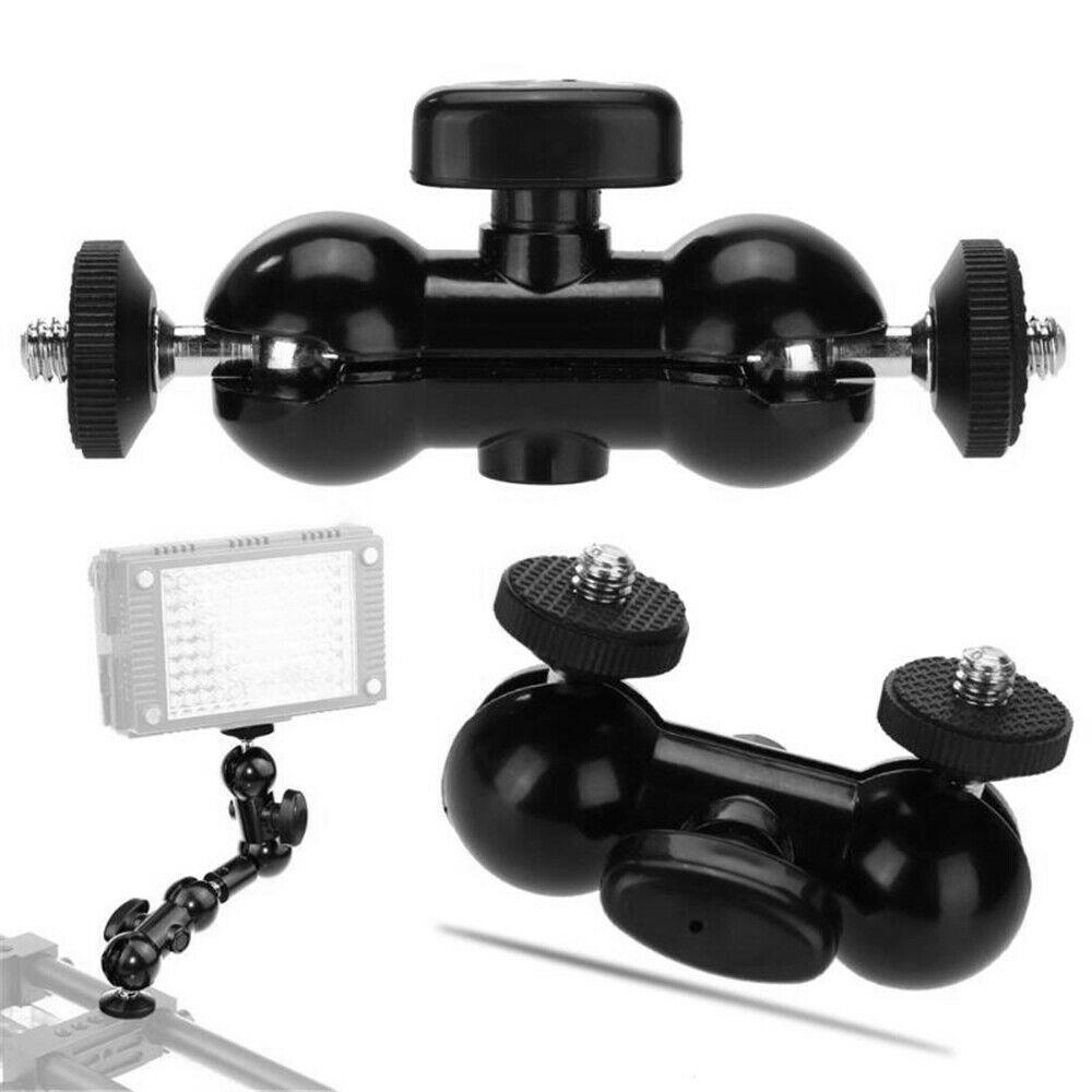 Multi-function Universal Magic Arm Double Small Ballhead Black For DSLR