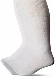 Hanes Men's FreshIQ Over The Calf Tube Socks (Pack of Shoe Size: 6-14, White