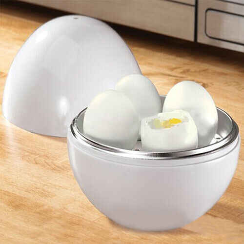 KM_ Ball Shape Microwave 4-6 Eggs Cooker Hard Boiled Boiler Kitchen Tool Charm