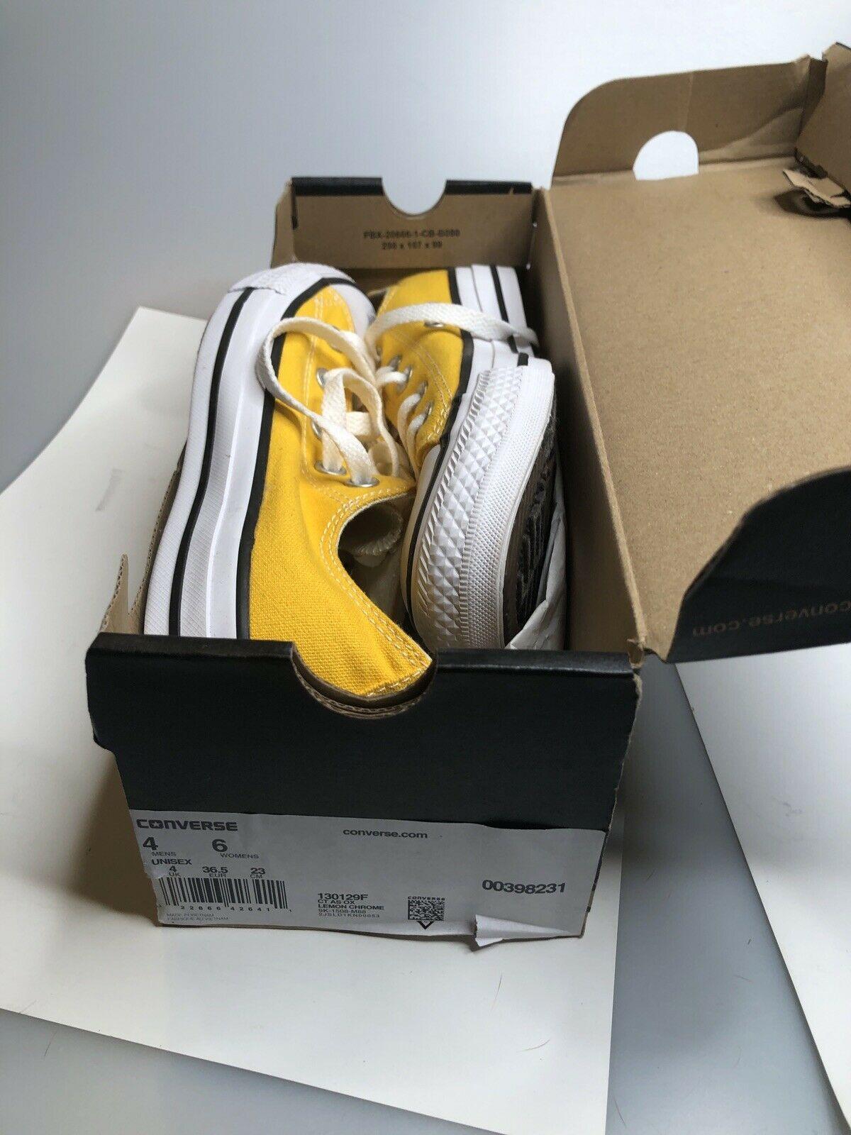 Converse Adult Unisex All Star Lo Skate Shoes Lemon Chrome Mens 4 / Womens 6