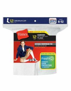 24-Pairs Hanes White Men's Over the Calf Tube Socks – Fits Shoe 6-12
