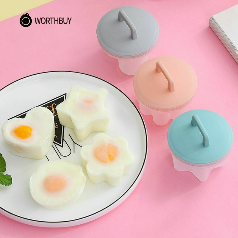 4 Pcs/Set Cute Egg Boiler Plastic Poacher Set Kitchen Egg Cooker Egg Mold Form