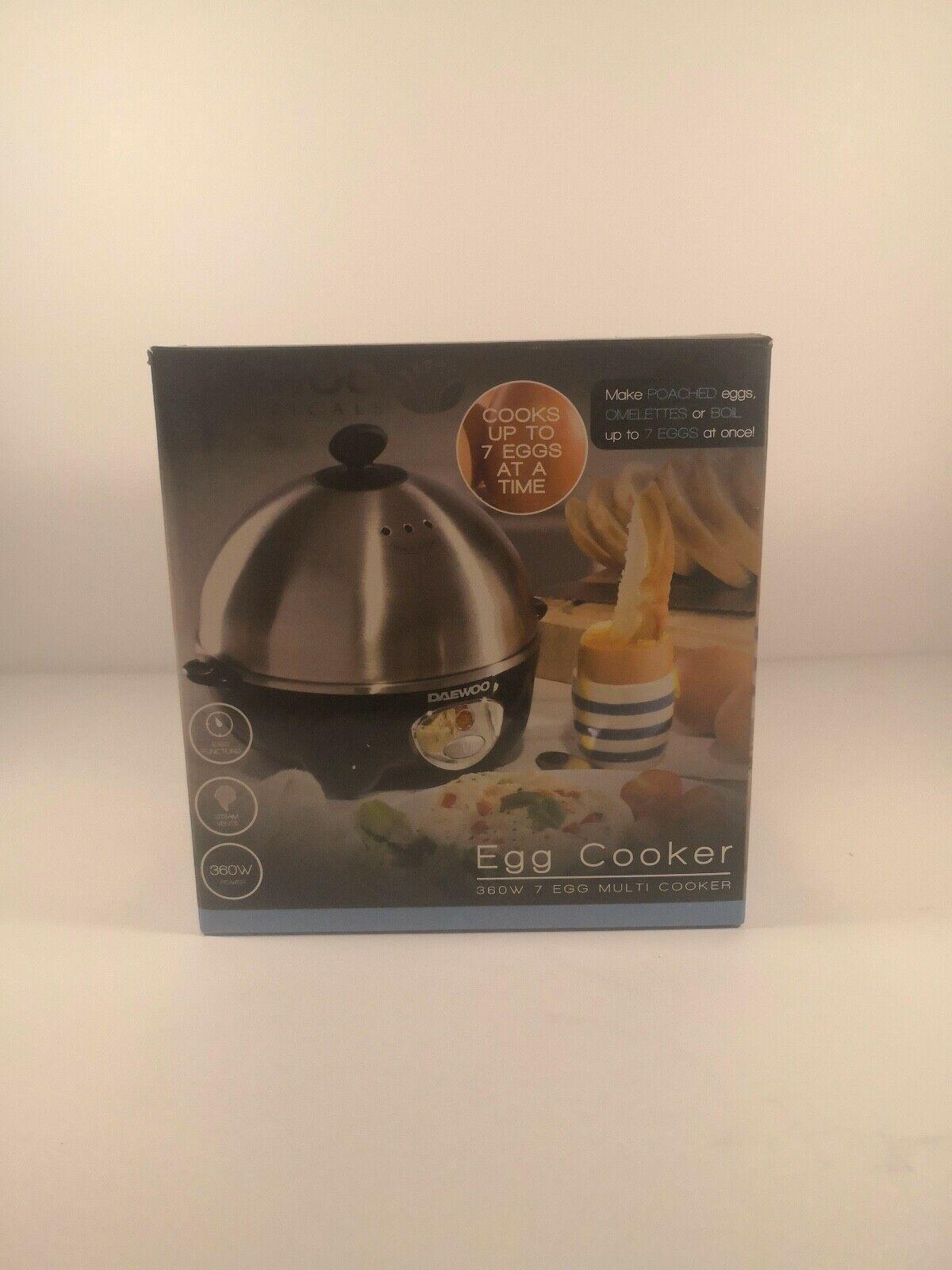 Daewoo 360W Electric Egg Boiler Cooker Poacher Steamer Omelette Maker Fit 7 Eggs