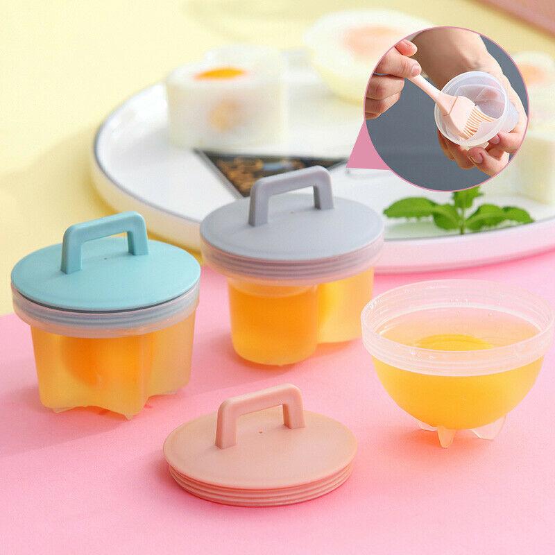 4 Pcs/Set Cute Egg Poacher Plastic Egg Boiler Kitchen Egg Cooker Tools Egg Mold