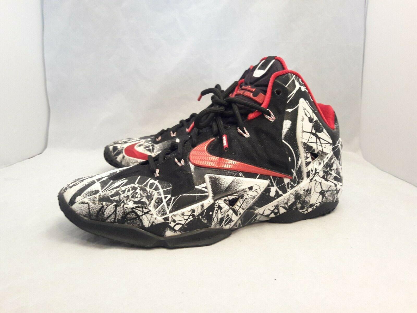 *SALE* Nike Lebron James XI 11Graffiti Basketball Shoes 616175-100 Men's Sz 9.5