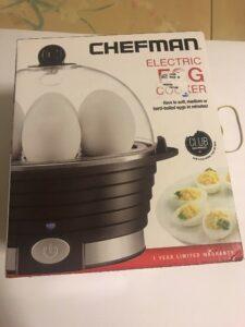 Egg Cooker Boiler Steamer Electric Poacher 6 Capacity Food Maker White Kitchen
