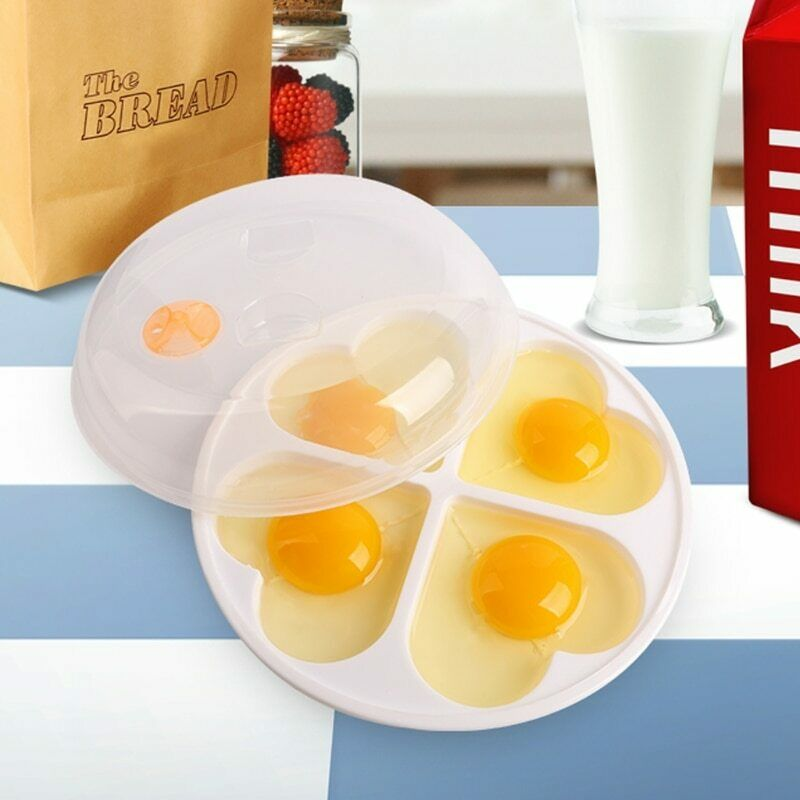 Microwave Egg Cooker Love Heart Shaped Mold Boiler Dish Kitchen Cooking Tool …