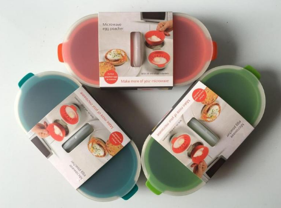 Microwave Egg Poacher Food Grade Cookware Double Cup Boiler Set Cooking Tools