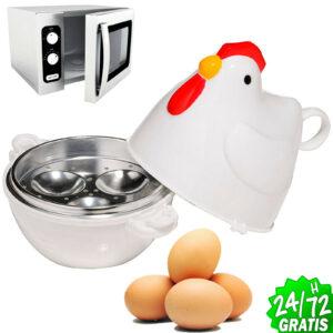 Jacket Kettle Hen Of 3 Eggs Microwave Egg Cooker Microwave