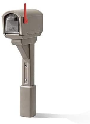 STEP 2 578499 MailMaster Express Plastic Mailbox, Mocha
