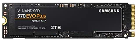 SAMSUNG 970 EVO Plus SSD 2TB – M.2 NVMe Interface Internal Solid State Drive with V-NAND Technology (MZ-V7S2T0B/AM)