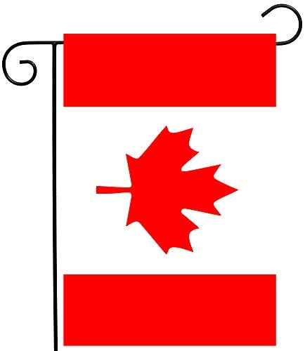 ShineSnow Canada Canadian Maple Leaf National Flag Garden Yard Flag 12″x 18″ Double Sided, Polyester Welcome House Flag Banners for Patio Lawn Outdoor Home Decor