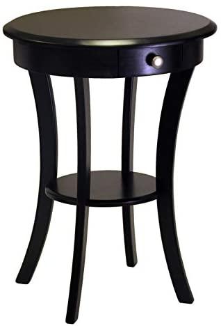 Winsome Wood Sasha Accent Table, Black