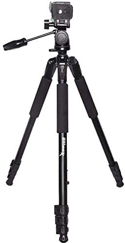 Ultimaxx 80″ Inch 4 Section Lightweight Portable Bubble Level 3-Way Pan Head with Tilt Motion Professional Tripod Stand (Black) with Convenient Carrying Bag for All DSLR Cameras and Camcorders