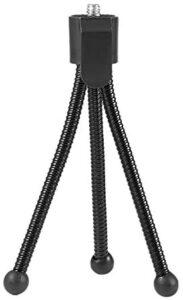 N/V Universal Flexible Mini Portable Metal Tripod Stand Holder for Digital Camera Mini DV Projector Travel Accessory(Black)
