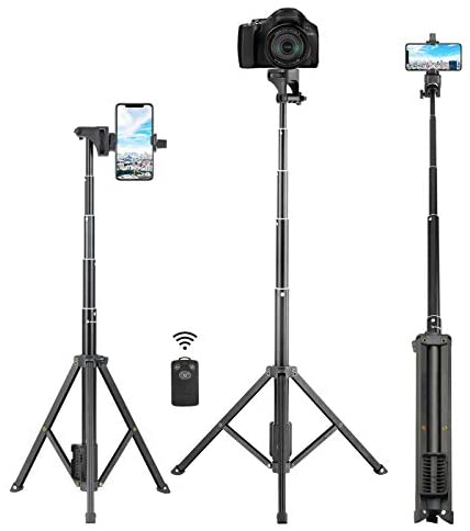 """Selfie Stick Tripod, Eocean 54"""" Extendable Selfie Stick with Phone Tripod Stand & Wireless Remote for iPhone SE 11 Pro Max X 8 7 6 Galaxy Note 9 Android, Perfect for Live Stream/Vlog, Lightweight"""