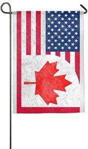 PANQJN Canada US Friendship Flag Combination Home Garden Flag Decorative for Garden Home Welcome Wedding Home Garden Deco