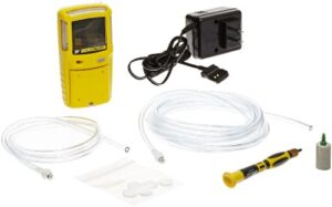 BW Technologies XT-XWHM-Y-NA GasAlertMax XT II 4-Gas Detector with Pump, Combustible, O2, H2S and CO, Yellow