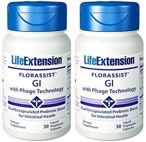 Life Extension FLORASSIST® GI with Phage Technology, 30 (Pack of 2)