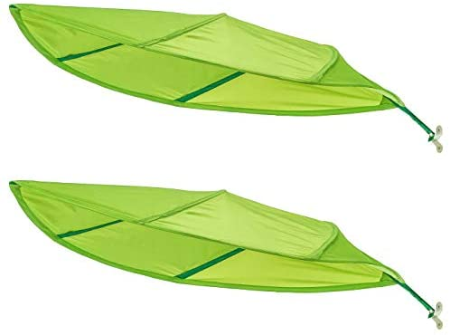 Ikea Green Leaf Lova Kid Bed Canopy – Latest 2017 IKEA Model Improved for Home and Office Use – Perfect for Diffusing Harsh Florescent Office Lighting – Short Stem (2-Pack)