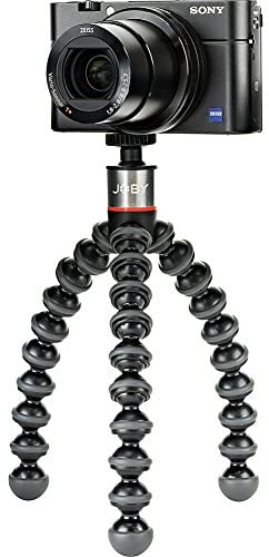 JOBY GorillaPod 500: A Compact, Flexible Tripod for Sub-Compact Cameras, Point & Shoot, 360 Cameras and Other Devices up to 500 grams