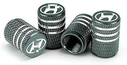 EVPRO Valve Stem Caps for Car Tire Decorative 4 Pack Gray Fit Hyundai Accessories