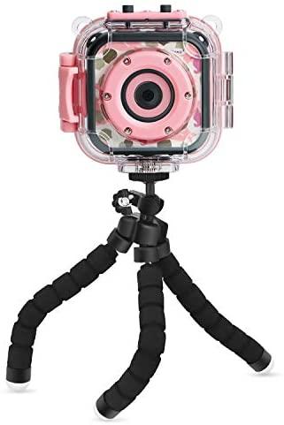 PROGRACE Mini Tripod Flexible Tripod for PROGRACE Kids Waterproof Camera Action Camera Lightweight Tripod Grip Stability