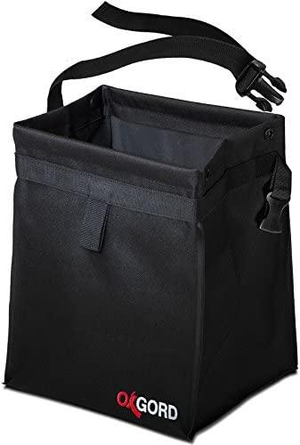 OxGord Waterproof Car Trash Can with Lid – 100% Leak-Proof, Plus Odor Blocking – Back Seat Hanging Garbage Holder – Waste Bag Basket Organizer Best for Must Haves Cute Interior Car Accessories
