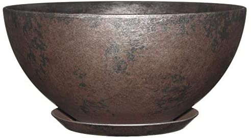 Classic Home and Garden 9010D-379R 10″ Rosie Bowl Planter, Northern Lights