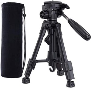 Bomaker Tripod for GC355, GC555, GC357 WiFi Projector, Camera, 24.4 inch Lightweight Tripod with Bag