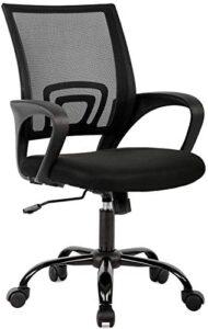 Direct Ergonomic Office Chair Home Desk Task Computer Gaming with Back Lumbar Support Armrest Swivel Modern Adjustable Rolling Executive Mesh for Women Men, Black