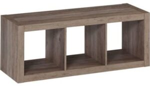 Better Homes and Gardens Versatile 3-Cube Organizer (Rustic Gray)